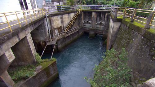 木瓜溪流域初英電廠尾水出口