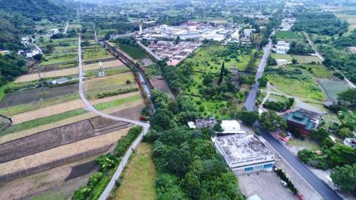 木瓜溪流域初英電廠尾水去處吉安圳俯瞰