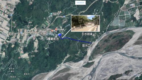 高屏溪流域竹門電廠經由竹子門隧道至荖農溪取水示意圖