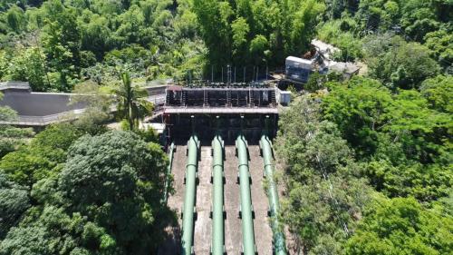 高屏溪流域竹門電廠壓力鋼管