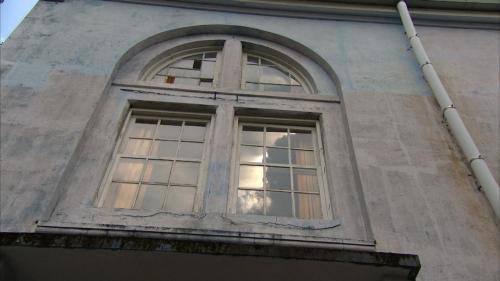 高屏溪流域竹門電廠巴洛克式建築窗戶