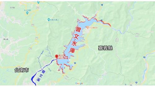 曾文水庫位於曾文溪上游,距離台南市東北約65公里的地方。
