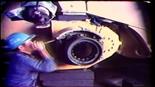 曾文水庫施工期間榮工處在曾文水庫工區設置了一座無所不修的維修廠。