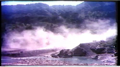 榮工處承辦之曾文水庫導水隧道工程施工開炸