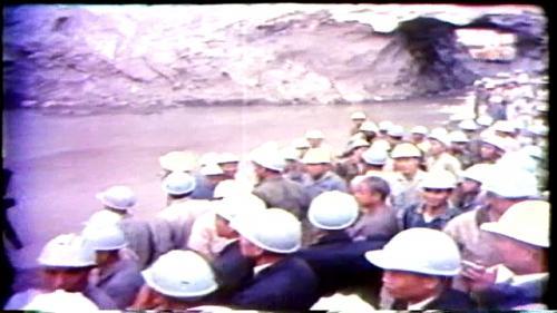 榮工處承辦之曾文水庫於民國58年11月13日導水隧道完工通水