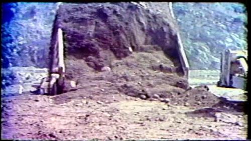 榮工處承建曾文水庫之大壩填築