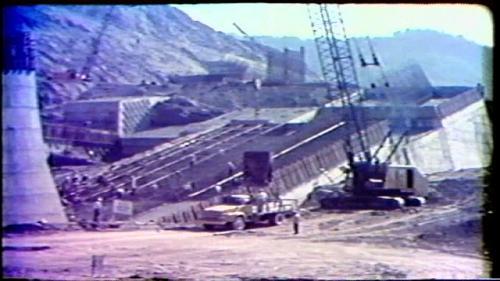 榮工處承建曾文水庫之溢洪道混凝土澆置