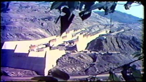 榮工處承辦之曾文水庫之溢洪道施工舊照