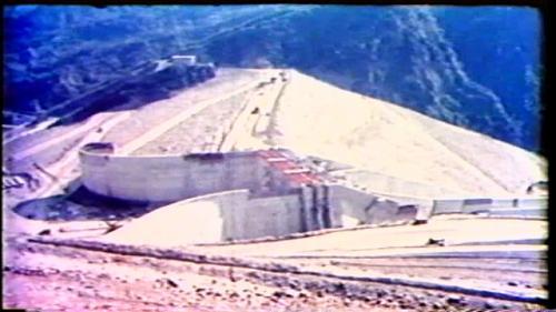 榮工處承建曾文水庫之跨越溢洪堰橋樑架設完成