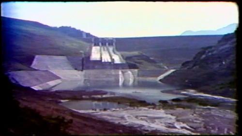 榮工處承建之曾文水庫之溢洪道及消能池