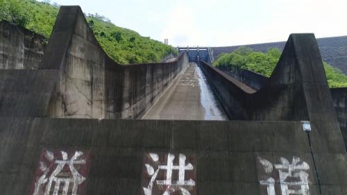 榮工處承建之曾文水庫溢洪道