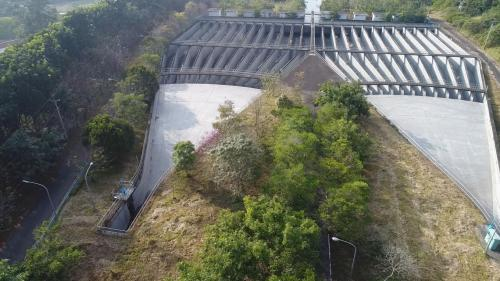 濁水溪集集攔河堰北岸沈砂池