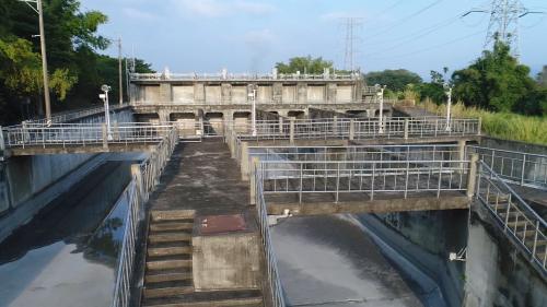 濁水溪集集攔河堰北聯絡渠道之八堡圳分水工
