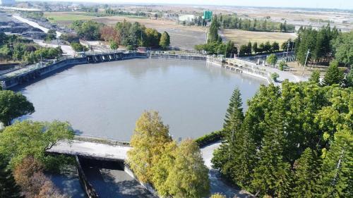濁水溪集集攔河堰南岸聯絡渠道林內分水工
