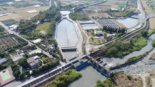 濁水溪集集攔河堰林內分水工水源之一的濁幹線林內二號進水口