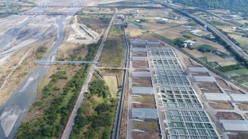 濁水溪集集攔河堰南岸聯絡渠道之林內淨水廠