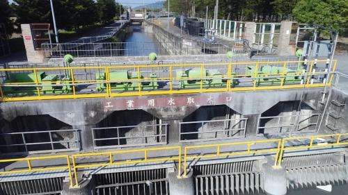 濁水溪集集攔河堰南聯絡渠之工業用水段取水口