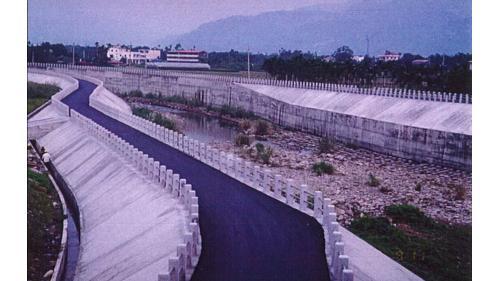 濁水溪集集攔河堰北清水溝溪左右岸完工時舊照