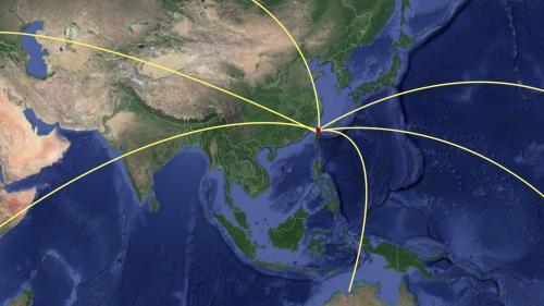 台北港處於北美及歐洲等遠東遠洋航線之要衝 。