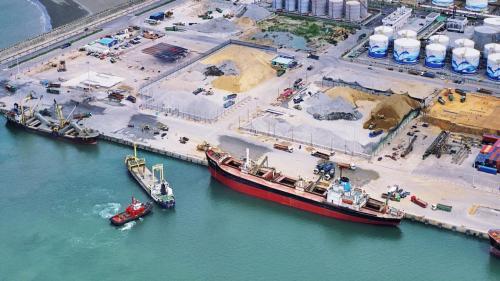台北港2006年砂石碼頭作業