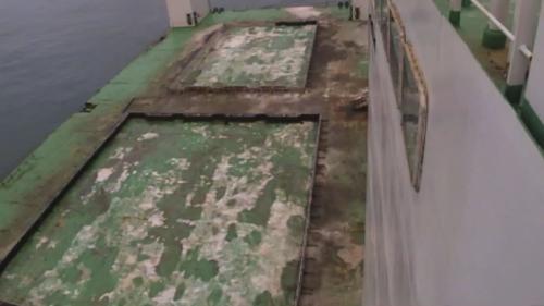 台北港第二期工程第一個5年計畫,興建延伸北碼頭區防坡堤工程用之沉箱製作的浮沉平台。