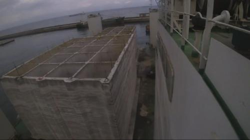 台北港第二期工程第一個5年計畫,興建延伸北碼頭區防坡堤工程用之沉箱製作完成