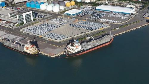 台北港第二期工程第二個五年計畫期間,原先2座砂石碼頭改規畫成「東碼頭區」並將2個碼頭擴建為6個碼頭。