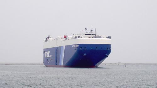 台北港汽車船於2005年5月8日首航照片