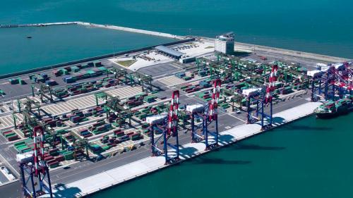 台北港2009年2月第一貨櫃儲運中心正式開始營運舊照
