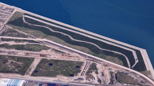 台北港「離岸物流倉儲區填海造地企劃第一期」的新生地