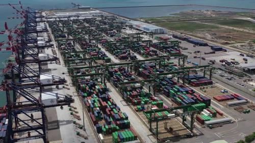 台港北區第四、五及六號貨櫃碼頭俯瞰