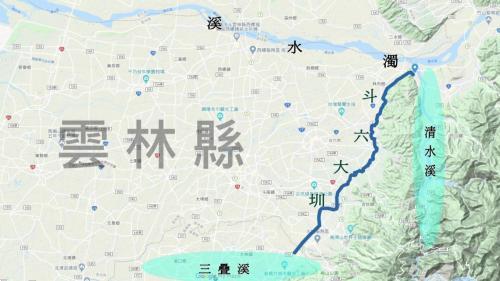 斗六大圳相關地理位置