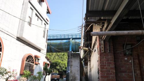 斗六大圳用於灌溉的引水渡槽