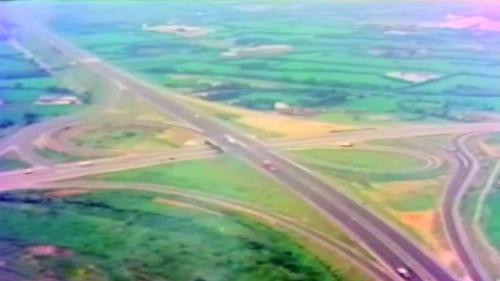 榮工處承建十大建設之中山高速公路施工舊照