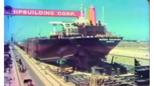 榮工處承建十大建設之中國造船廠舊照