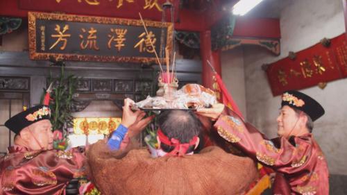八堡圳旁林先生廟昔日祭拜畫面