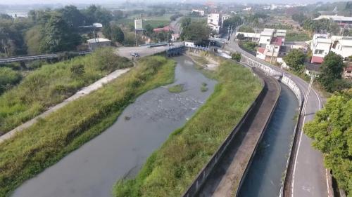 八堡圳俯瞰,是臺灣最古老的埤圳之一
