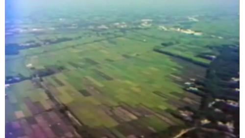 榮工處承辦之中山南北高速公路工程旁的嘉南平原
