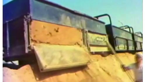 榮工處以台糖小火車運送附近河床之土方建造中山南北高速公路南段