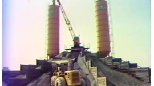 榮工處設立供中山南北高速公路工程使用的高品質混擬土自動控制拌合場