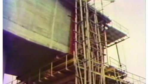 榮工處承辦之中山南北高速公路之橋梁施工