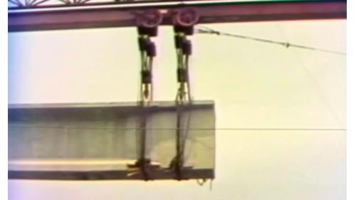 榮工處承辦之中山南北高速公路使用的預力樑施工