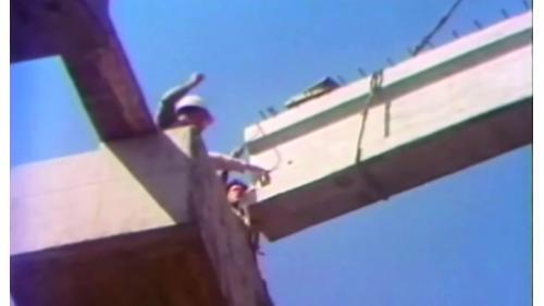 榮工處承辦之中山南北高速公路使用重機械建設公路橋梁