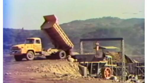 榮工處承辦之中山南北高速公路工程之碎石場