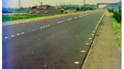 榮工處承辦之中山南北高速公路工程路面反光標記裝置完成