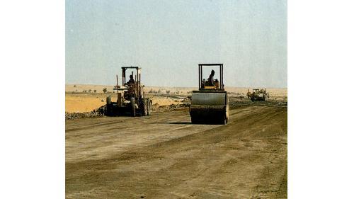 榮工處承接的海外公路工程沙烏地吉善十號道路施工