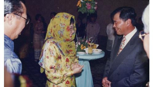 印尼蘇哈托總理女兒Tutu與榮工處曾元一處長馬尼拉高架高速道路開工典禮