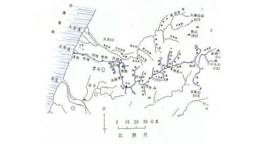 大甲溪流域地圖