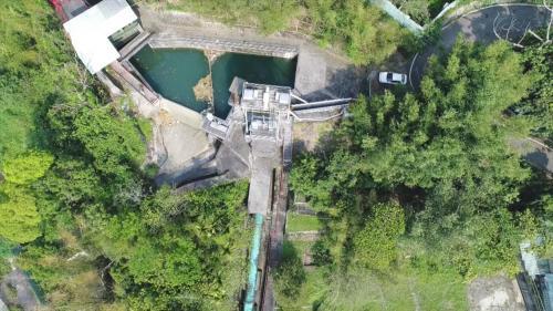 儲備由電火圳經過2620公尺的水路引來的水。