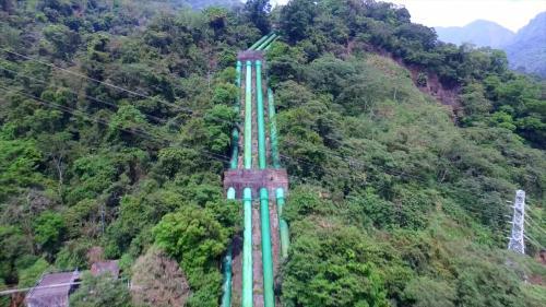 大甲溪流域天輪電廠壓力鋼管